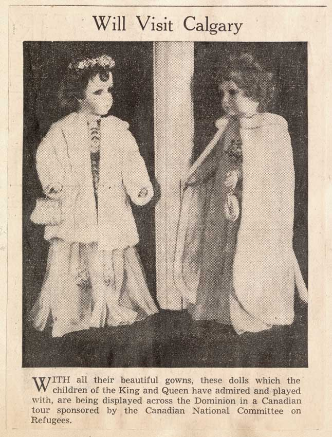 Two royal dolls seen in this newspaper article led Annie Murray down the rabbit hole.